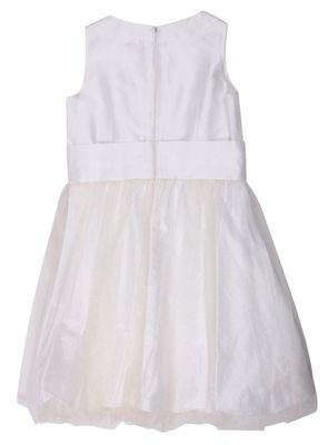 MONNALISA Chic Girls Festive Christening dress Natural white Knee-Length 711951RC-0001