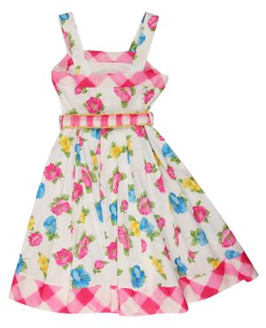 MONNALISA Girls Summer dress Multicolored Knee-Length 111919-9984