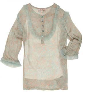 Blumarine Miss Blumarine Girls Summer blouse Light Blue 345CM61-00204