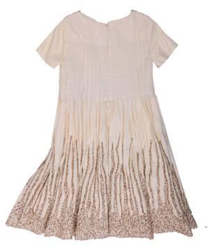 QUIS QUIS Exclusive Girls Festive dress Gold Knee-Length QS0097-COMP