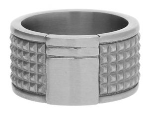 Esprit Men Ring Stainless steel silver Rocks ESRG11463A