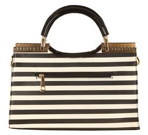 Ilan Fernandez Damen Shoulder Bag Schwarz-Weiß AB-8095-BLACK