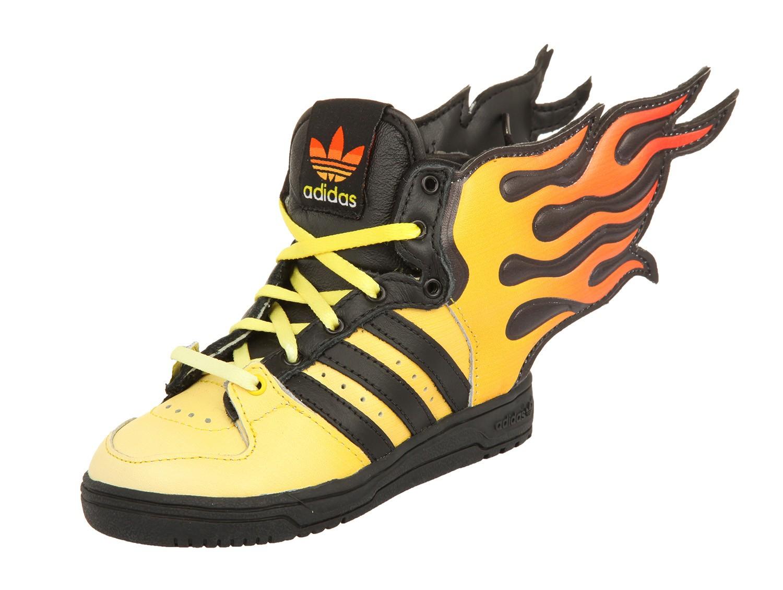 the latest 35517 e11ad adidas Jeremy Scott Kids Sneakers JS FLAMES I Schwarz Gelb Orange D65987