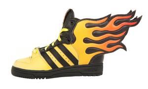 adidas Jeremy Scott Kids Sneakers JS FLAMES I Schwarz/Gelb/Orange D65987