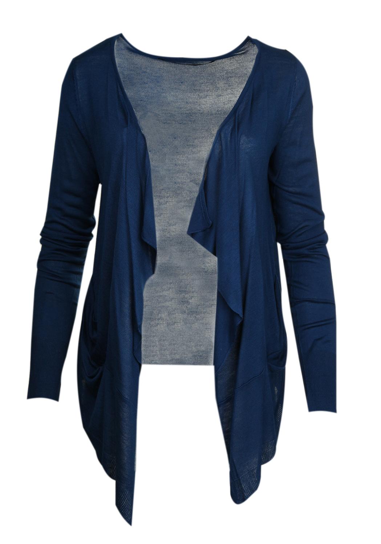 brand new a71d9 89475 JUST FEMALE Damen Strickjacke Blau Save Cardigan 5387167