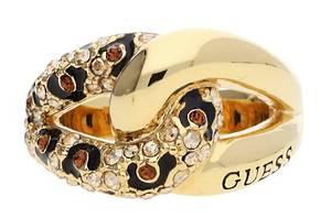 Guess Damen Fingerring Metall Gold/Schwarz UBR51422