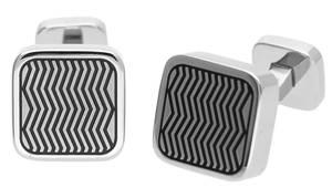 Joop Men Cufflinks stainless steel silver Zigzag JPCF10321A000