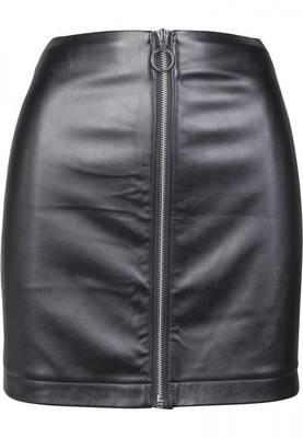 Urban Classics Ladies Faux Leather Zip Skirt TB2370