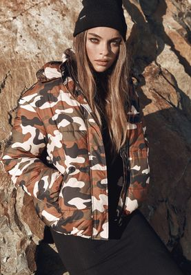 Urban Classics Ladies Boyfriend Camo Puffer Jacket TB2379
