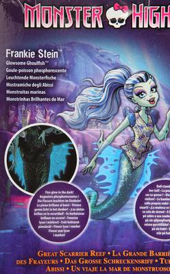 Mattel Kids Monster High Toy- Great Scarrier Reef plastic multicolored Frankie Stein-Glowsome Ghoulish DHB55