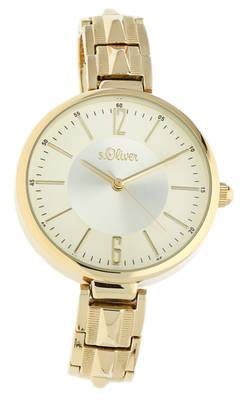 s.Oliver Damen Armbanduhr gold SO-15122-MQR