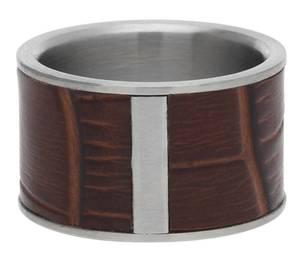 Esprit Herren Ring stainless steel silver/brown Wild Guy ESRG10989B