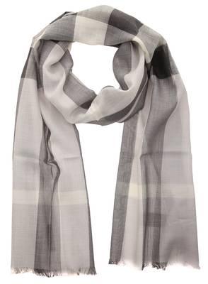 Burberry Scarf pale grey GAUZE HALF MEGA CHECK 39313231