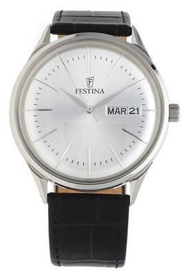 Festina  Armbanduhr Retro Quartz schwarz F6837-1