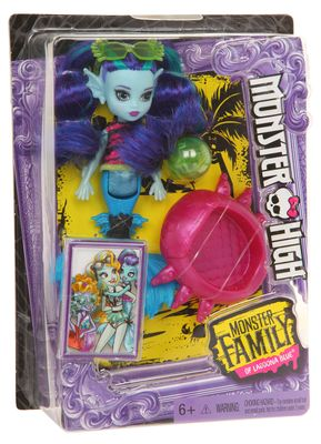Mattel Monster High Family Lagoonas Schwester Ebbie Blue FCV67