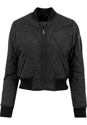 Urban Classics Damen Ladies Diamond Quilt Short Bomber TB1546