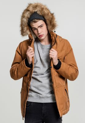 Urban Classics Herren Heavy Cotton Imitation Fur Parka TB1814
