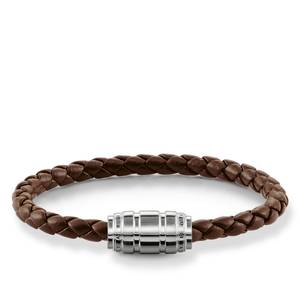 Thomas Sabo wristband Leder Brown / silver UB0019-823-2-L19