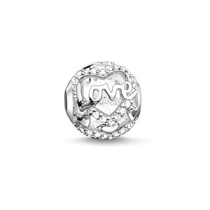 Thomas Sabo Damen Bead 925 Silber Silber Heart of love K0177-051-14