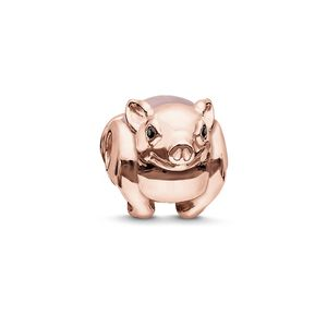 Thomas Sabo Women bead 925 silber rose gold / pink piggy K0197-417-9