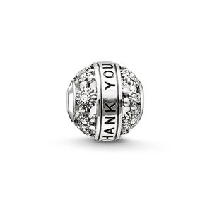 Thomas Sabo Women bead 925 silber silver THANK YOU K0213-643-14
