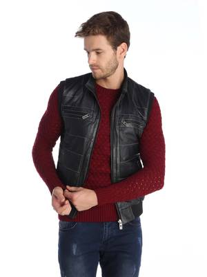 GIORGIO DI MARE Men's leather vest GI2380364