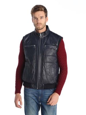 GIORGIO DI MARE Men's Leather Vest GI104688