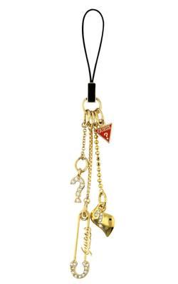 Guess Damen Schlüsselanhänger Metall Gold UBC10912