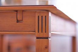Stuhl Gotland braun Pinie massiv Holz Moebel Holzstuhl Landhaus Esstischstuhl – Bild 4