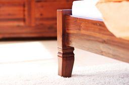 Bett Siena Akazie massiv Holz Moebel Holzbett Schlafzimmer kolonial – Bild 5