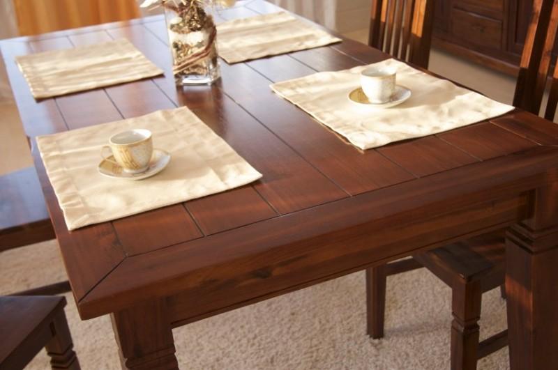 ansteckplatten f r esstisch siena akazie massiv braun gebeizt lackiert. Black Bedroom Furniture Sets. Home Design Ideas
