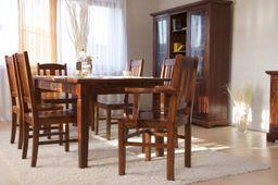 Esstisch 180cm + 6 Holzstühle Siena massiv Holz Essgruppe Esszimmergarnitur