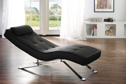 Relax Liege rot Lounge Sofa Leder Design Couch Moebel Liegestuhl Wohnzimmer Moebel – Bild 5