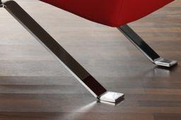 Relax Liege rot Lounge Sofa Leder Design Couch Moebel Liegestuhl Wohnzimmer Moebel – Bild 4