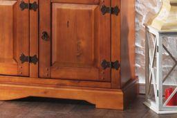 Garderoben Paneel Glory braun massiv Holz Moebel Wand garderobe leiste Flur – Bild 3