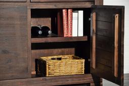 Sideboard Tecky Akazie massiv Holz Moebel Kommode Schrank Anrichte Wohnzimmer – Bild 3
