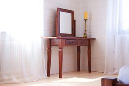 Spiegel Siena Akazie massiv Holz Moebel Standspiegel Holzrahmen kolonial – Bild 3