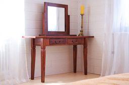 Spiegel Siena Akazie massiv Holz Moebel Standspiegel Holzrahmen kolonial – Bild 2