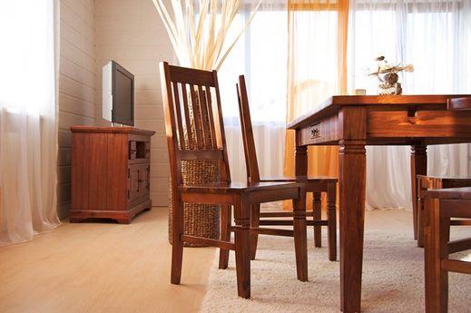 Stuhl Siena Akazie massiv Holz Holzstuhl Esstischstuhl Esszimmer kolonial