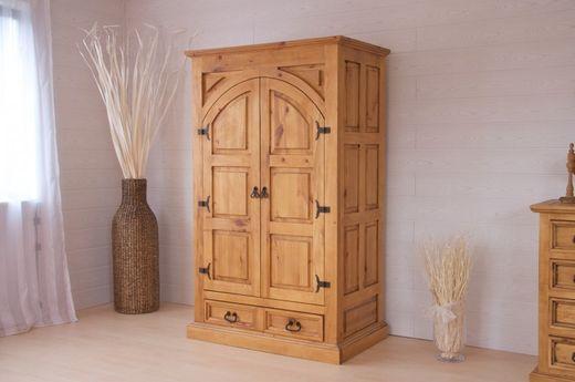 Kleiderschrank El Paso Holzmöbel massiv Pinie Schrank Schlafzimmer