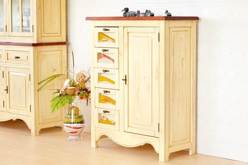 sideboard bogota pinie massiv beige gebeizt lackiert. Black Bedroom Furniture Sets. Home Design Ideas