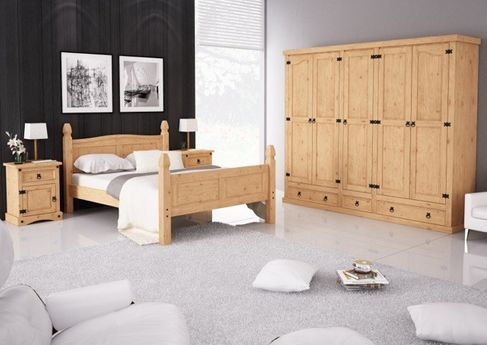 nachttisch merida pinie massiv hellbraun gewachst. Black Bedroom Furniture Sets. Home Design Ideas
