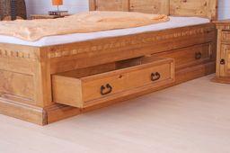 "Bett 200 x 200 ""Hacienda Mojito"" Schlafzimmer Pinie massiv Holz Moebel – Bild 3"
