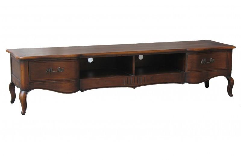 TV Unterschrank Vintage Braun Massiv Holz Antik Shabby Lowboard Schrank  Board