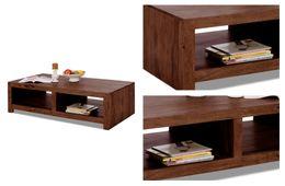 """Couchtisch 140x70 """"Cube"""" dunkel braun Palisander massiv Wohnzimmertisch Tisch Möbel"""