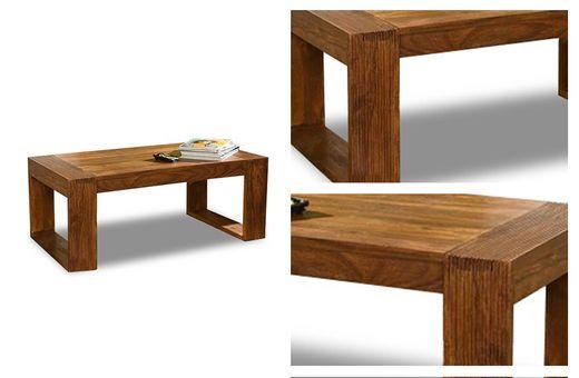 """Couchtisch 110x60 """"Cube"""" Palisander massiv Wohnzimmertisch Tisch Möbel"""