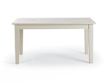 Esstisch 180/220 + 6 Stühle Capri cremeweiß ausziehbar Pinie massiv Holz Essgruppe – Bild 2