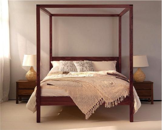Himmelbett 180 X 200 Amore Akazie Massiv Holz Doppelbett Schlafzimmer