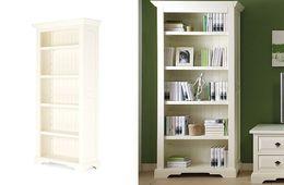 Bücherregal Capri cremeweiß Pinie massiv Holz Bücherwand Regal Wand Büro Schrank – Bild 3