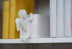 Angel Skulptur 4 Baby Angel Figur Deko - Weiß Antik Look  – Bild 11